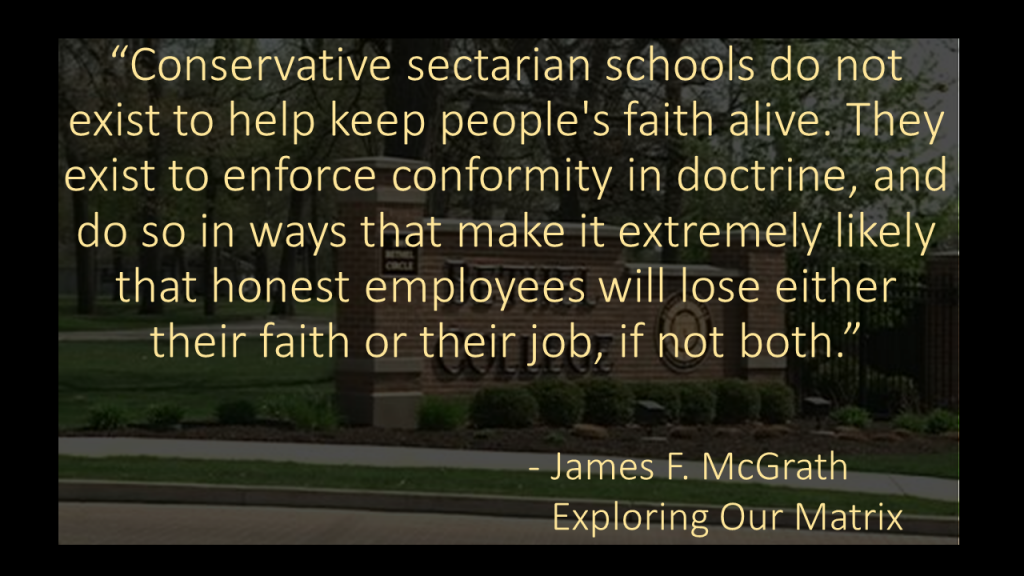 Conservative sectarian schools quote