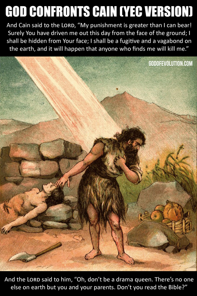 God confronts Cain YEC version