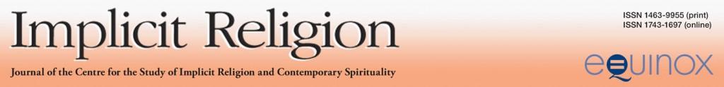 Implicit Religion header