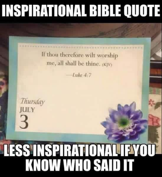 Inspirational Bible Quote from Satan