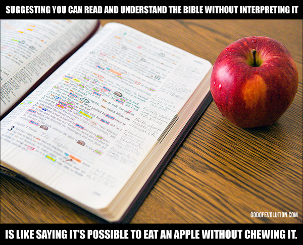 Reading without interpreting