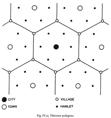 Thiessen polygons Dever