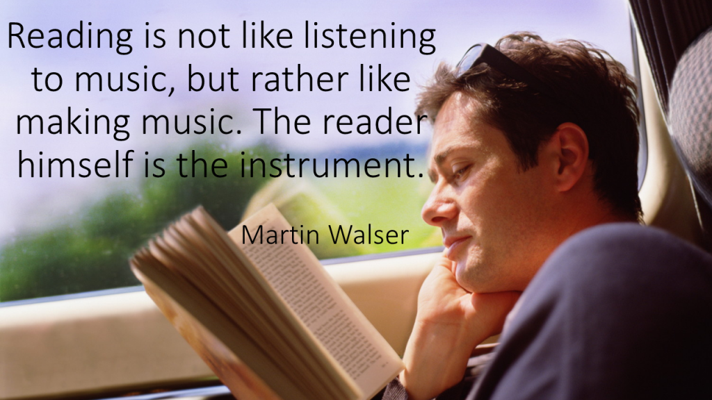 Reading is not like listening to music