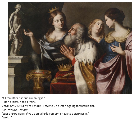 Solomon tempted by wives