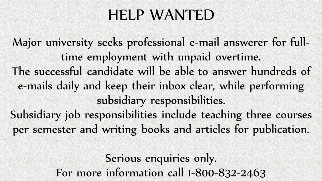professional e-mail answerer wanted