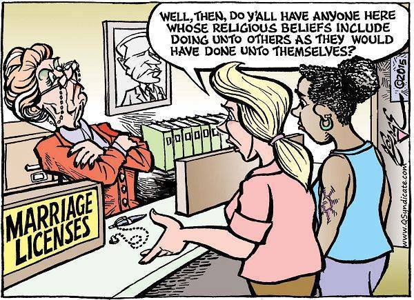 Marriage licenses and religious principles