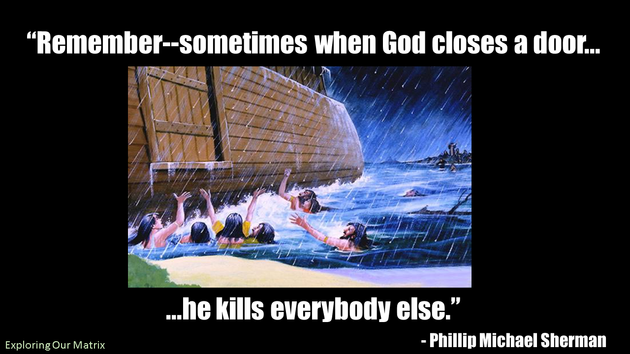 Remember--sometimes when God closes a door demotivational