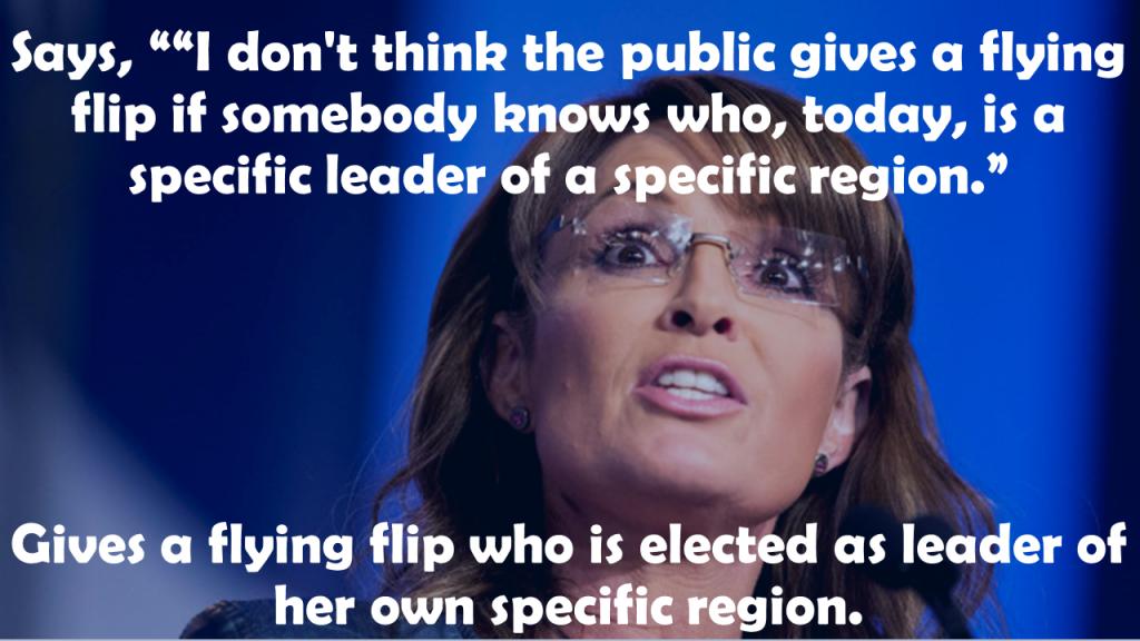 Sarah Palin flying flip