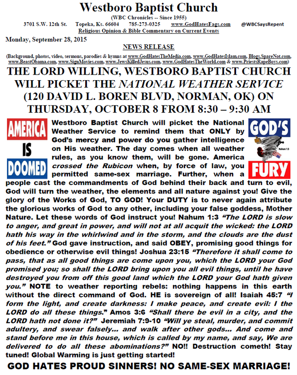 Westboro Baptist National Weather Service