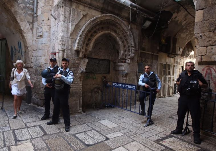 Police in Old Jerusalem