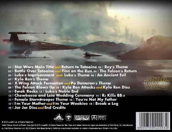 Star Wars Force Awakens Soundtrack Spoilers