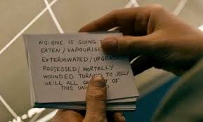 Under the Lake Doctor cue cards