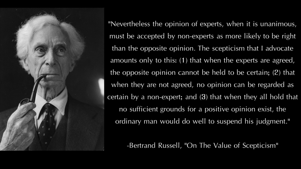 Bertrand Russell on Skepticism