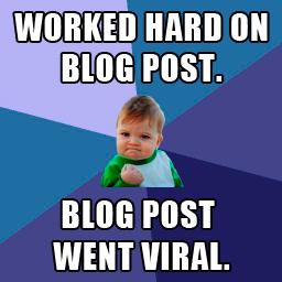blog post went viral