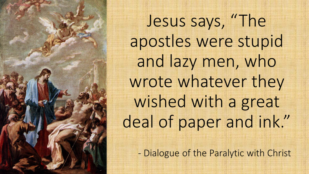 Dialogue of the Paralytic with Christ,