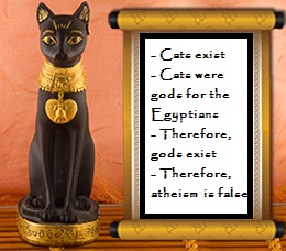 Egyptian cats disprove atheism