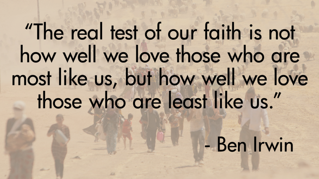 Ben Irwin Test of Faith Quote Yezidi Background