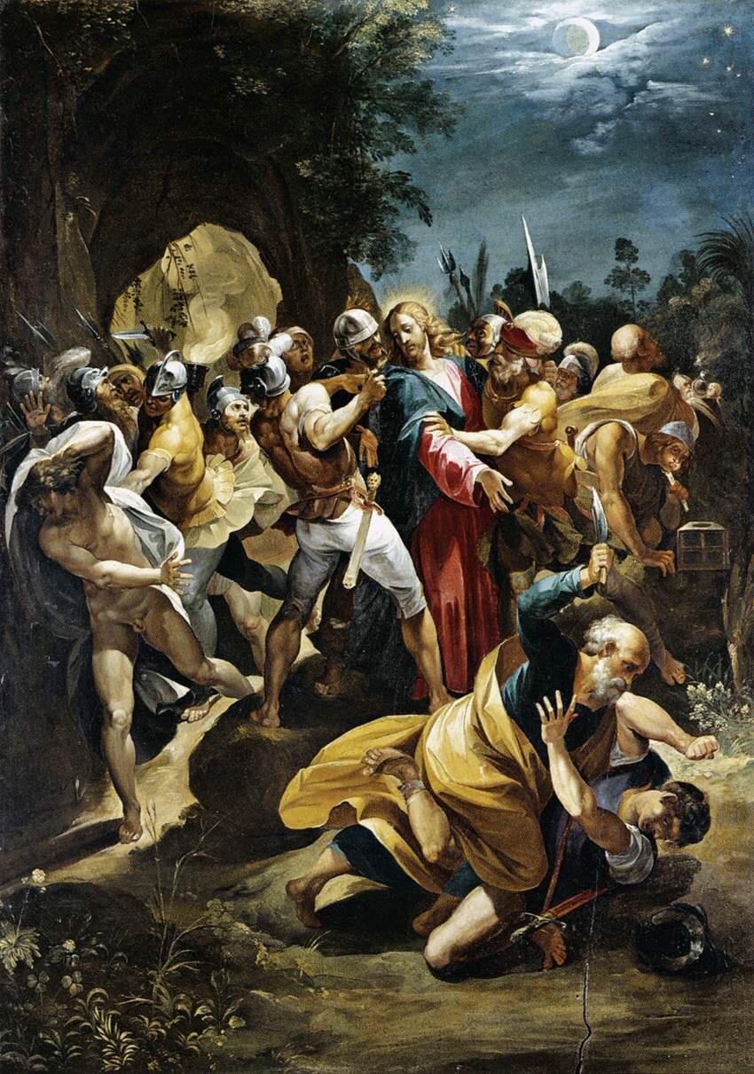 """The painting """"Christ Taken Prisoner"""" by Giuseppe Cesari"""
