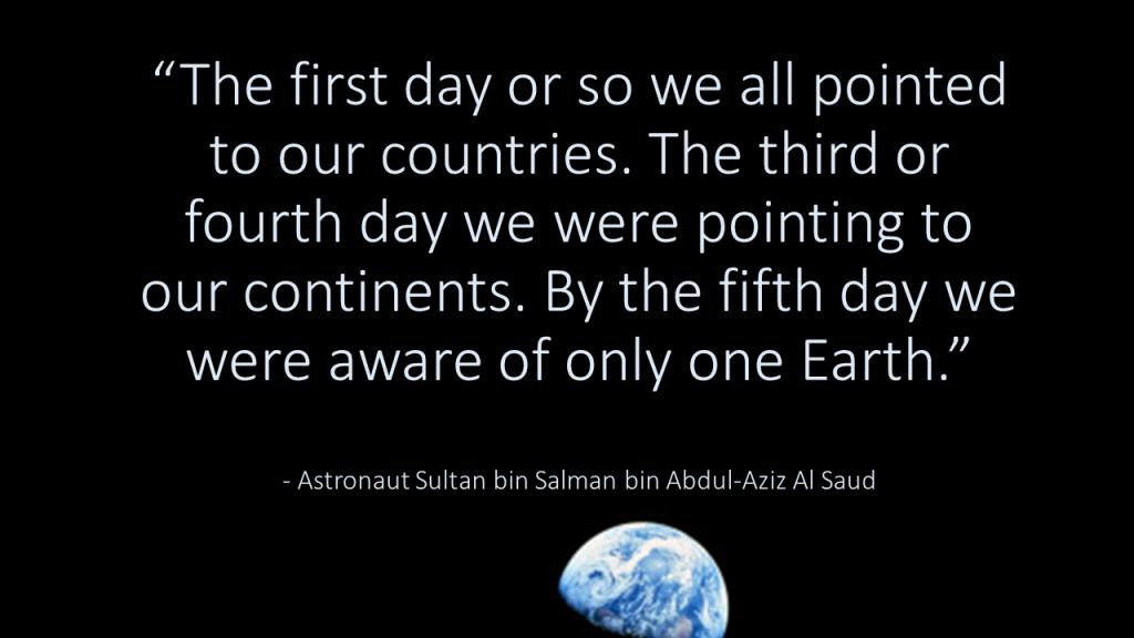 Saudi Astronaut Quote