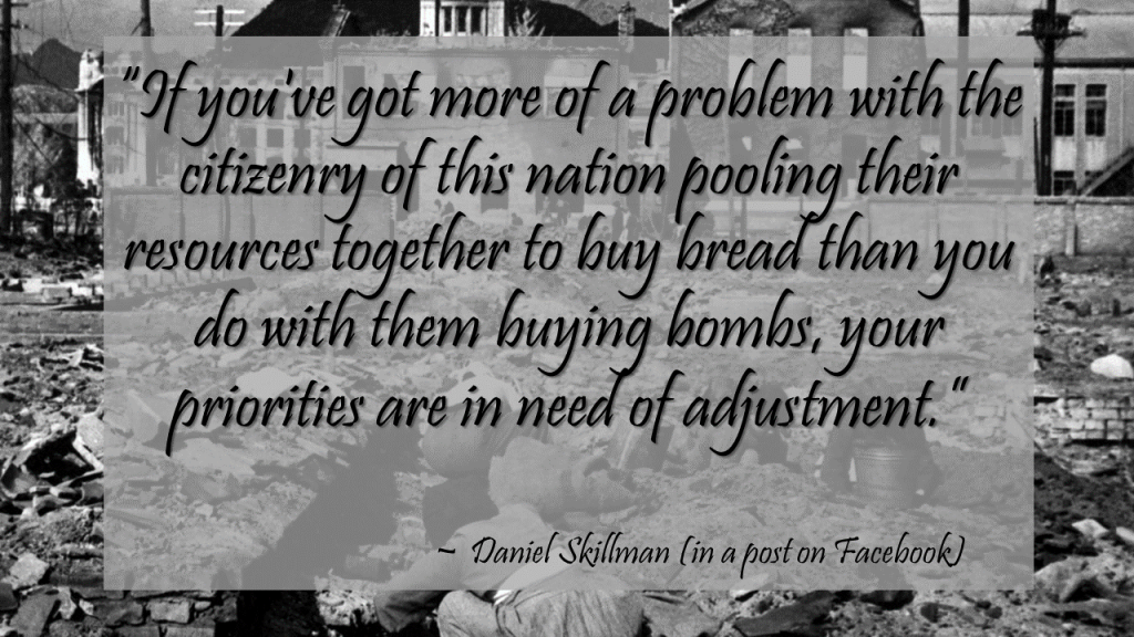 Daniel Skillman Quote Bombs Bread Priorities 2