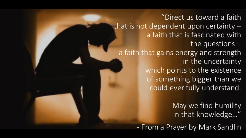 Mark Sandlin Prayer God in our own Image