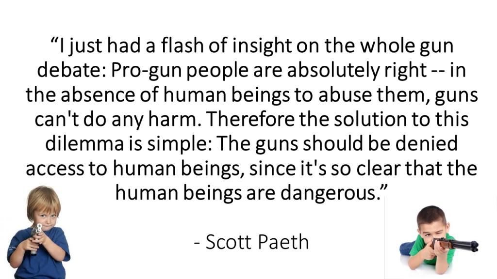 Guns' access to humans