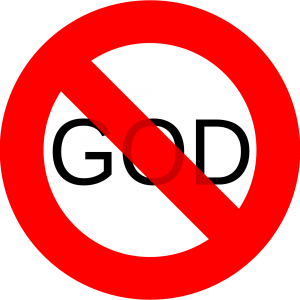 No God sign