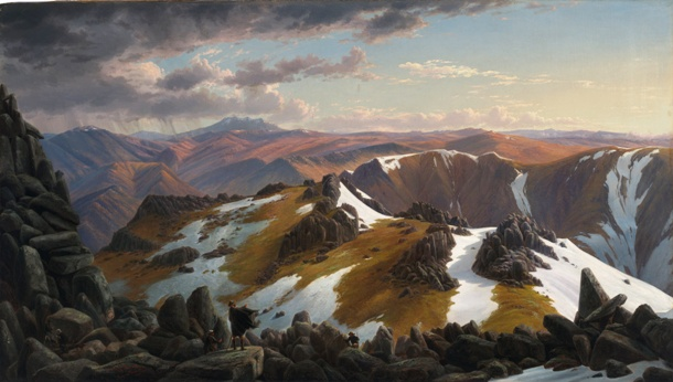 Eugene_VON_GUÉRard_-_North-east_view_from_the_northern_top_of_Mount_Kosciusko_-_Google_Art_Project