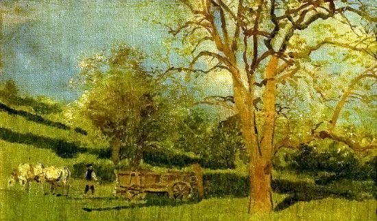"""Early Spring"" by László Mednyánszky, from WikiMedia."