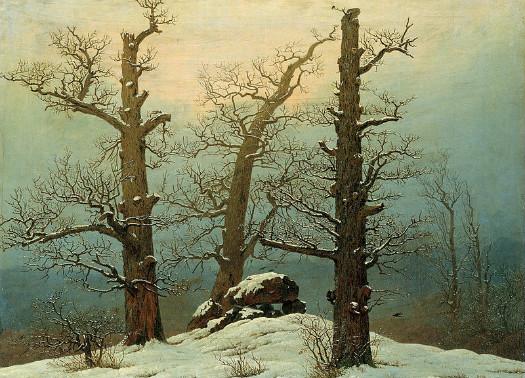 """Cairn in Snow"" by Caspar David Friedrich.  From WikiMedia"