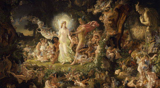 """The Quarrel of Oberon and Titania"" by Noel Paton, from WikiMedia.  (There are no quarrels at P Pagan, right?)"