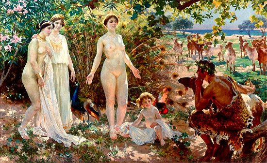 """""""The Judgement of Paris"""" by by Enrique Simonet, from WikiMedia"""