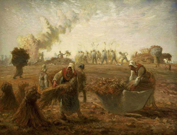 """Buckwheat Harvest"" by Jean-François Millet.  From WikiMedia"