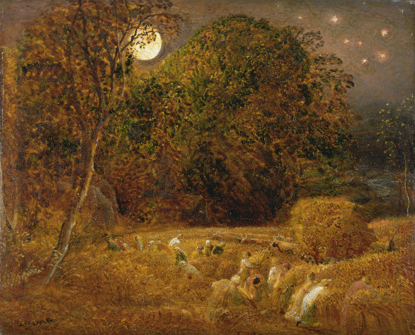 """The Harvest Moon"" by Samuel Palmer.  From WikiMedia"