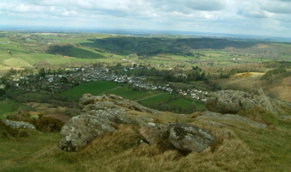 Chagford seen from Meldon