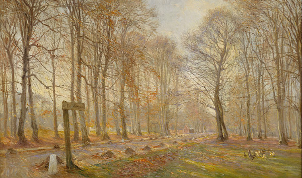 """ Late Autumn Day in the Jægersborg Deer Park"" by Theodor Philipsen.  From WikiMedia."