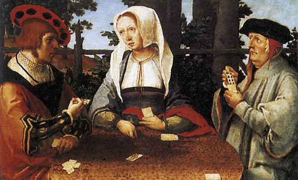 """Card Players"" by Lucas Van Leyden.  From WikiMedia."