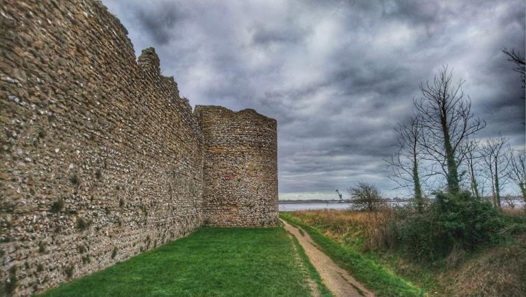 Roman walls at Portchester, Hampshire