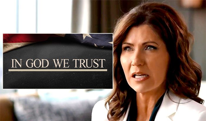 By law, S Dakota schools must now display 'In God we trust' signs