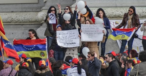 "A 2014 student protest in Venezuela, c/o Pixabay.com, ""Donations_are_appreciated"", CC0 Licensing"