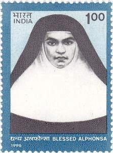 Indian stamp of St. Alphonsa of the Immaculate Conception