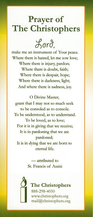 StFrancis Prayer