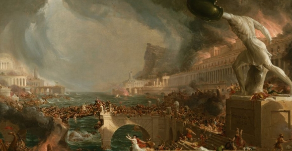 """Destruction,"" 1836, part of the ""Course of Empire"" series, by Thomas Cole"