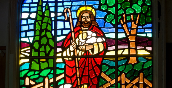 stained glass good shepherd
