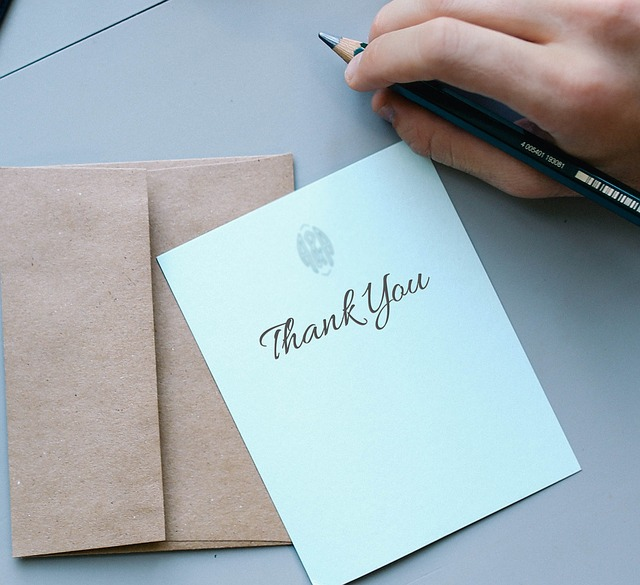 A Thank you note which helps us to think of reasons to thank God