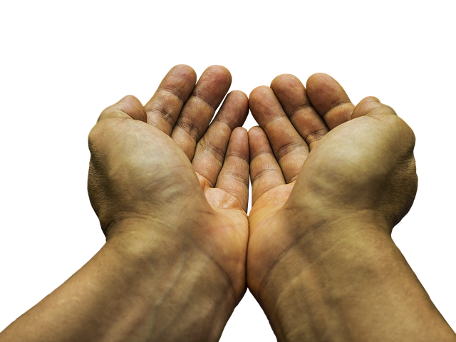 ask and you will receive - two hands begging
