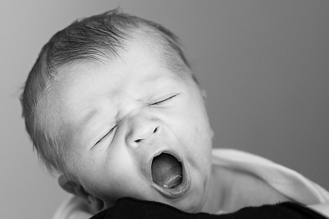 Stay Awake and Be Ready (A baby yawning)