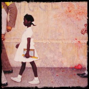 The Problem We All Live With (Rockwell, 1964) - racism