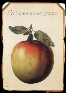 this is not an apple-magritte-1964-water-desert
