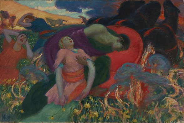 The Rape of Persephone by Rupert Bunny, image via Wikimedia Commons